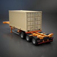 semi-trailer shipping container 3ds