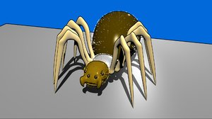 rigged spider blend free