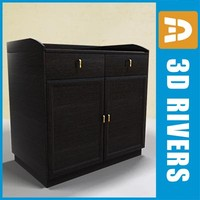 3d model of wooden cabinet