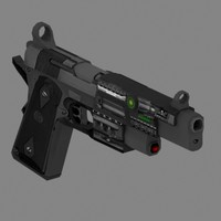 Laser Pistol - low polygon count