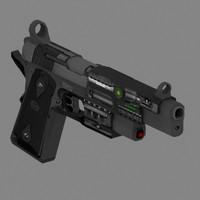 laser pistol 3d max