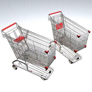 3d model of carrito la compra shopping cart
