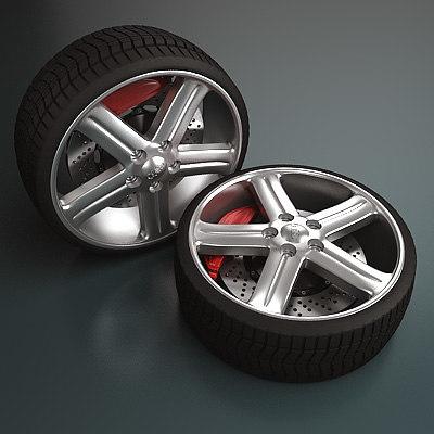 audi wheel - 3d model