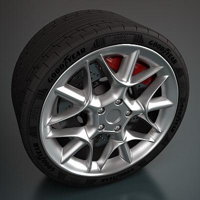 zagato wheel 3d max