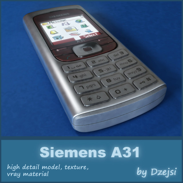mobile phone siemens a31 3d model