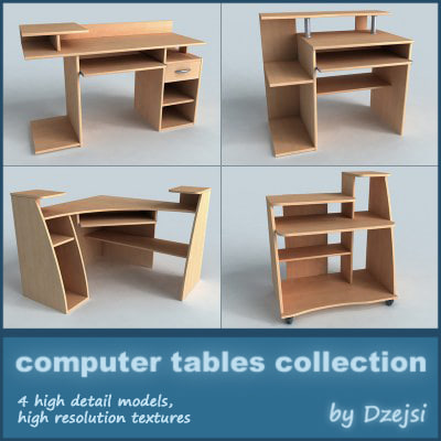 pc tables 3d model