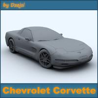 chevrolet corvette 3d model