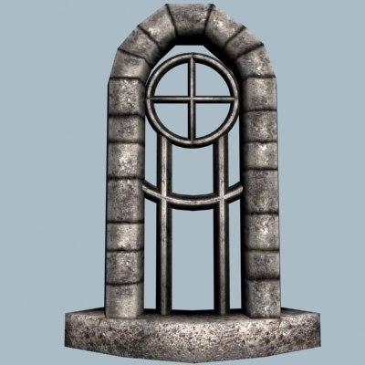 medieval castle window 3d model