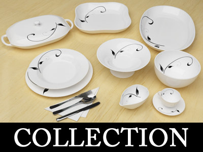 tableware kitchen table 3d model