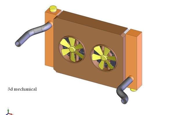 auto cooler 3d dxf