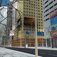definition lighting buildings 3d model