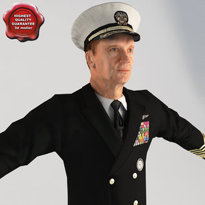 3d model of admiral t-pose