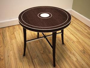 3d arts crafts table model