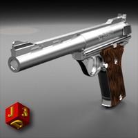 pistol 180 automag 3d model