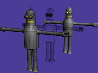 3ds max bender futurama