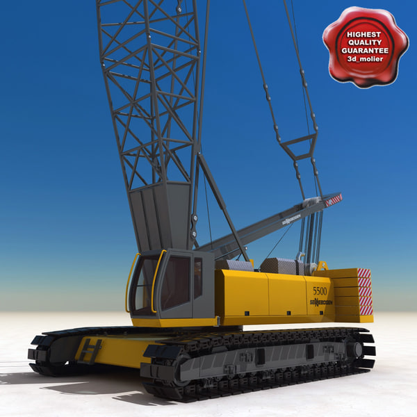 crawler crane sennebogen 5500 3d model