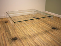 perspex coffee table 3d model