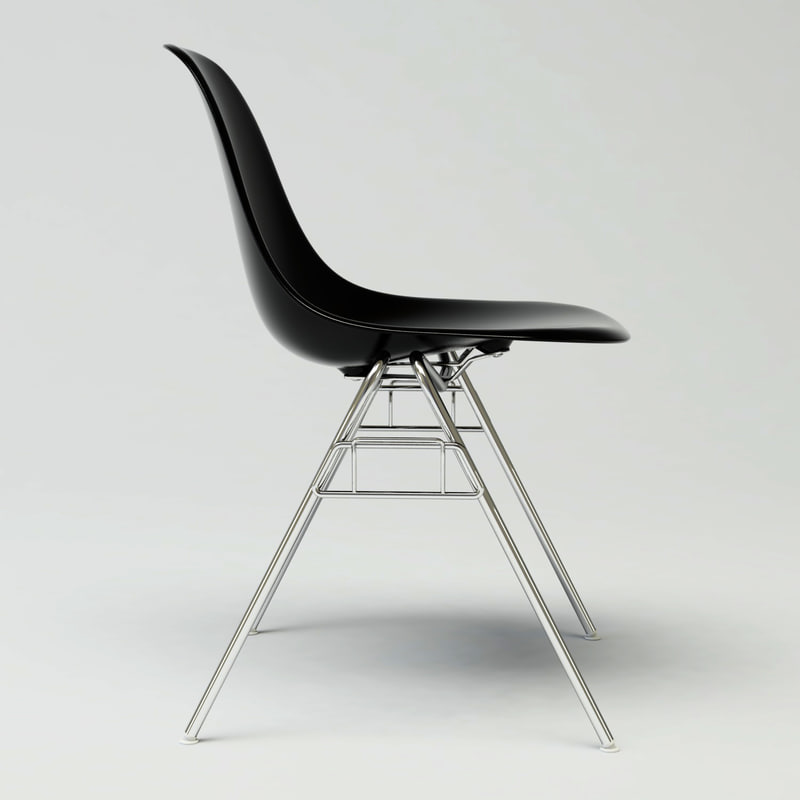 3d model of dss plastic chair