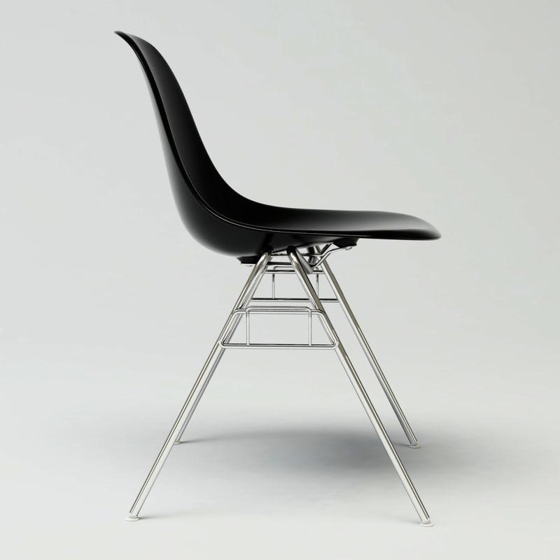 3d model of dss plastic chair