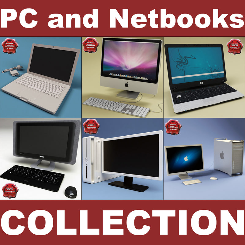 3d desktop pc notebooks model