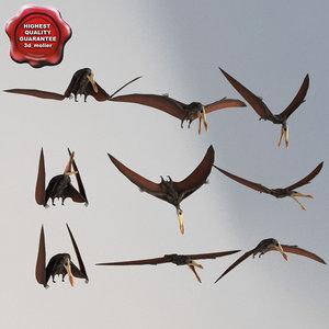 3d model pterosaur static poses