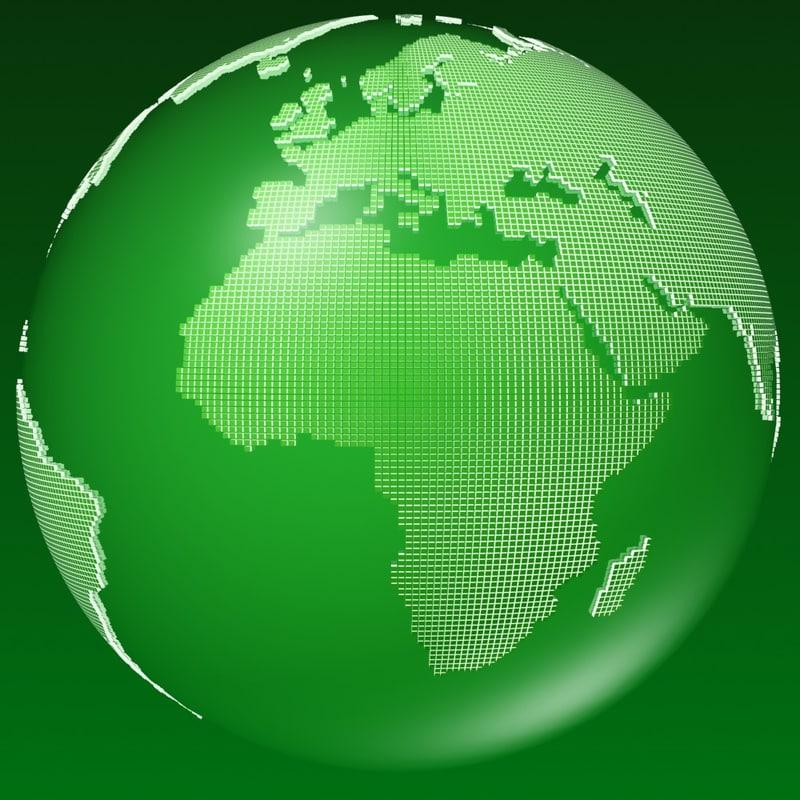 globe squares s 3d ma