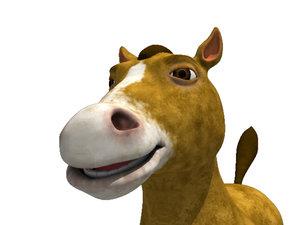 obj cartoon horse