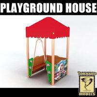 playground house 3d model