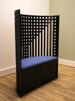 Lattice back chair