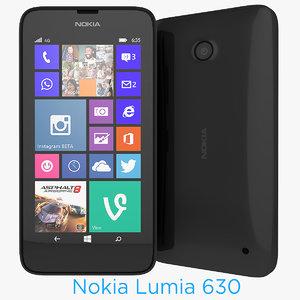3d nokia 630 smartphone model