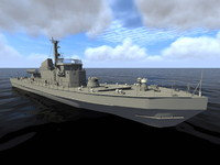 polish warship orp fala 3d 3ds