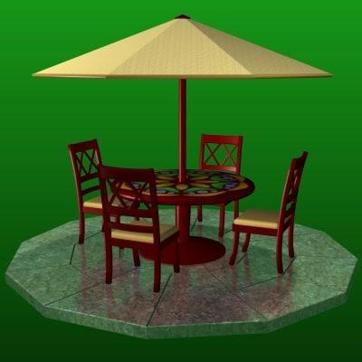 patio set 3d model