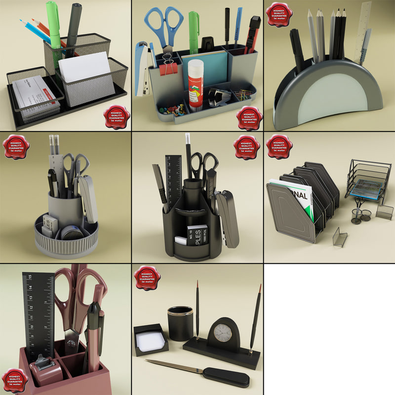 pen holders v3 collections 3d model
