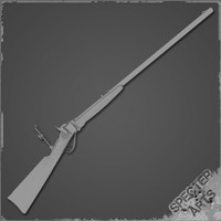 sharps 1874 rifle 3d model