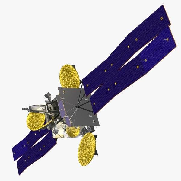 orbiting satellite geo cob 3d model