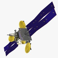 orbiting satellite geo cob 3d model