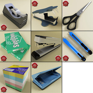 stationery v4 3d model
