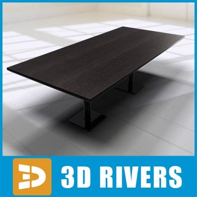 modern wooden table 3d model