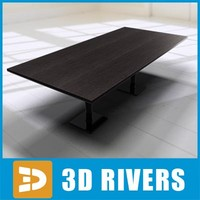 modern wooden table 3d model