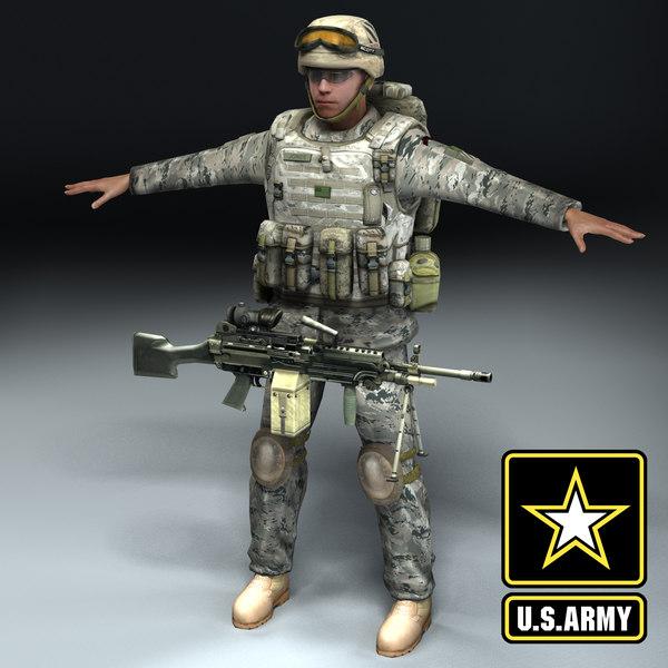 army infantry 3d model