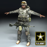 US Army Infantry 3DModel
