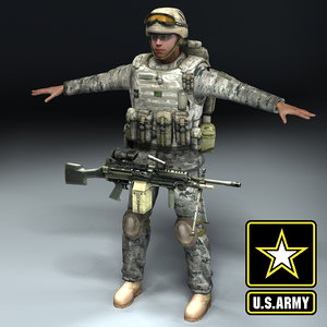 army infantry 3d model