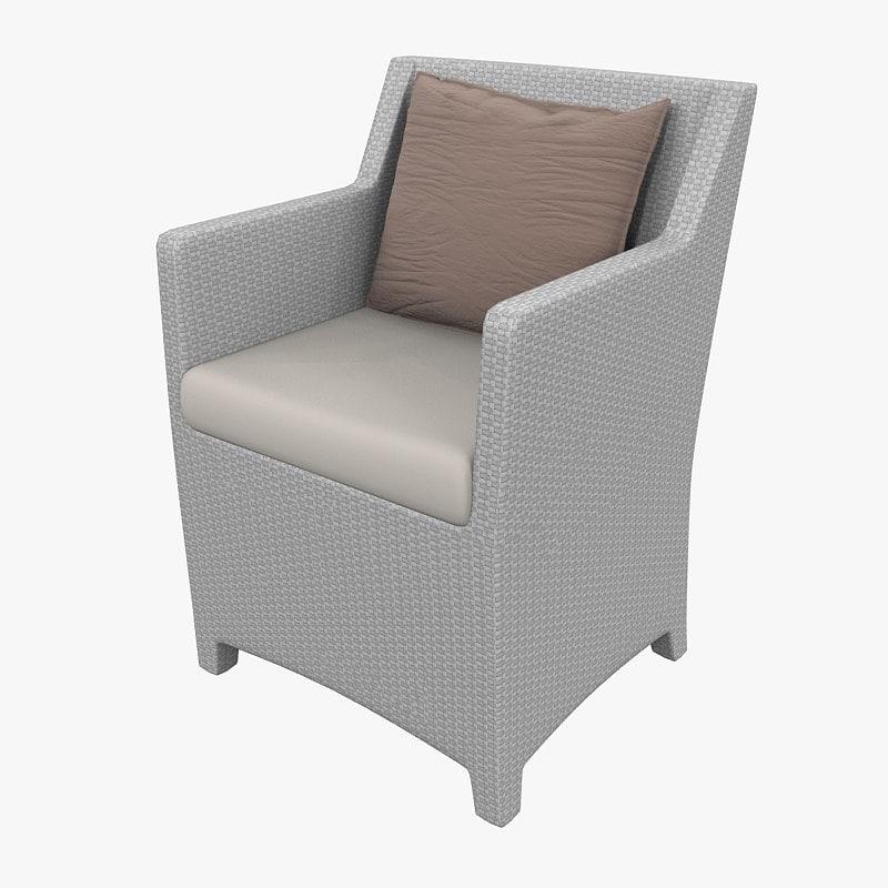 armchair barcelona richard frinier 3d model