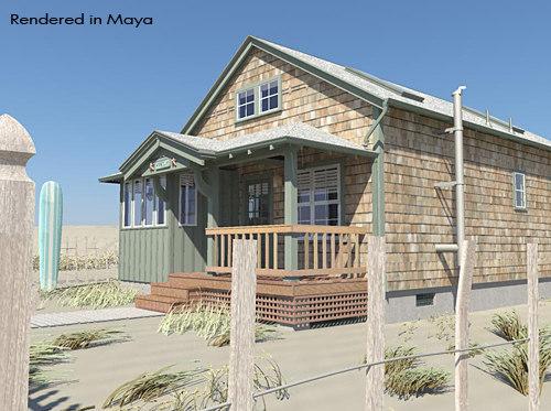 beach house alias beachhouse 3d model