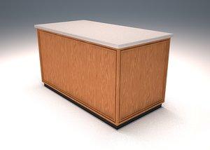 3d wood counter model