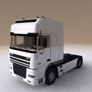 daf xf semi truck 3d model