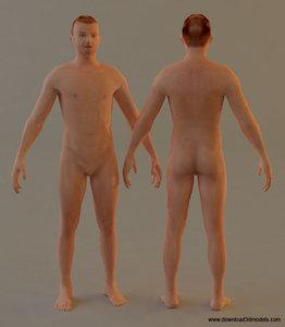human male man 3d model