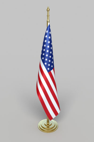 flag america office 3d model