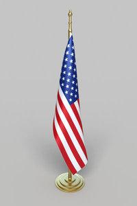 flag america office 3d model