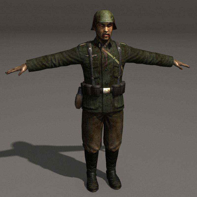 Zombie German Soldier